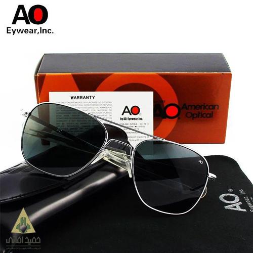 عینک AO مدل خلبانی شیشه مشکی