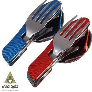 قاشق چنگال، چاقو مدل کوهنوردی تاشو